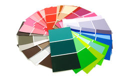 Color samples for painting Royalty Free Stock Photography