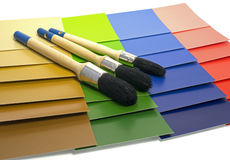 Color samples of painting Royalty Free Stock Photo