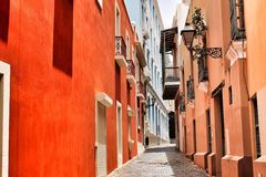 The color of San Juan Puerto Rico Royalty Free Stock Photography