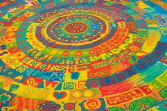 Color sand mandala Stock Photos