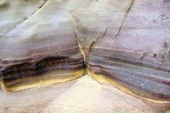Color sandstone rocks in Jordan desert. Stock Photography
