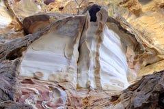 Color sandstone rocks in Jordan desert. Stock Photo