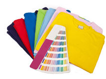 Color scale and t shirts Royalty Free Stock Images