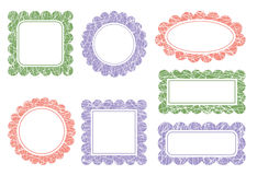 Color scalloped frames Royalty Free Stock Images
