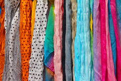 Color scarfs Royalty Free Stock Images
