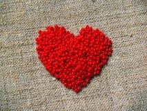 Color scarlatto del cuore Immagini Stock