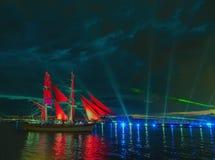 Color scarlatto della vela Fotografia Stock