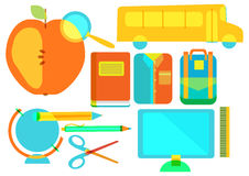 Color school icon collection Royalty Free Stock Images