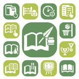 Color school icon set Stock Images