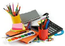 Color School Supplies Royalty Free Stock Photo