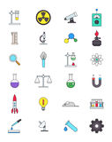 Color science icons set. Set of 24 color science icons Royalty Free Stock Photography