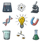 Color Science Icons Sketch Royalty Free Stock Photo
