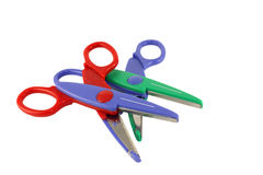 Color scissors for paper Stock Images