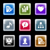 Color screen set 10 Stock Images