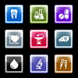 Color screen set 12. Vector icons set for internet, website, guides Stock Images