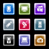 Color screen set 16. Vector icons set for internet, website, guides
