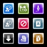 Color screen set 2 Royalty Free Stock Photography
