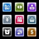Color screen set 24. Vector icons set for internet, website, guides Royalty Free Stock Photography