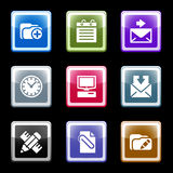 Color screen set 27 Stock Photography