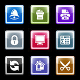 Color screen set 7 Stock Photos