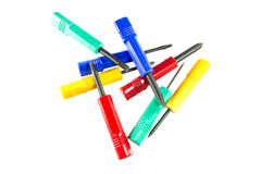 Color screwdriver set Royalty Free Stock Photo