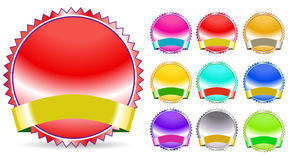 Color seal and ribbon Royalty Free Stock Photo