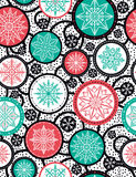 Color seamless pattern background with snowflakes and stars, ve royalty free stock image