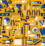Color seamless pattern of building tools Stock Photos