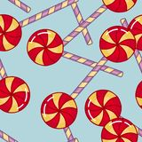 Color seamless pattern with candies. Funny color background Stock Images