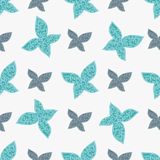 Color seamless pattern of colorful butterflies Royalty Free Stock Photos