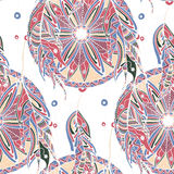 Color seamless pattern dream catcher with feathers Stock Image
