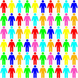 Color seamless pattern of the people Royalty Free Stock Images
