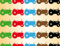 Color seamless pattern tractor. Cultivate Royalty Free Stock Photo