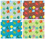 Color seamless pattern.Vector backgrounds with fas Royalty Free Stock Photos