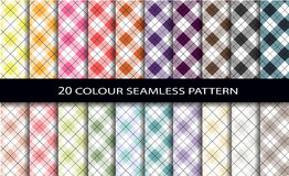 20 color seamless patterns Stock Photography