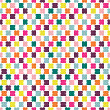 Color seamless repeat pattern on white background. Royalty Free Stock Photo