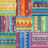 Color seamless tribal texture Royalty Free Stock Images