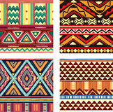 Color seamless tribal texture Stock Photography