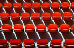 Color seat in football stadium Royalty Free Stock Images