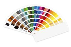 Color selector fan isolated on white. Background Royalty Free Stock Photos