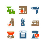 Color set 19. Vector icons set for internet, website, guides Stock Photography