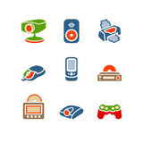 Color set 21. Vector icons set for internet, website, guides Stock Image