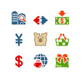 Color set 24. Vector icons set for internet, website, guides Royalty Free Stock Photos