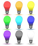 Color set of bulbs for your design Stock Photos