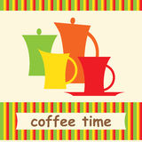 Color set of coffee Stock Image