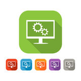 Color set of flat settings icon Stock Photos