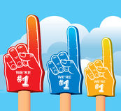 Color set of foam hand. Stock Images