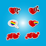 Color set with Gays icons Stock Photos