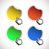 Color set of labels badges and stickers Royalty Free Stock Image
