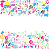 Color Set of network icons Royalty Free Stock Photos